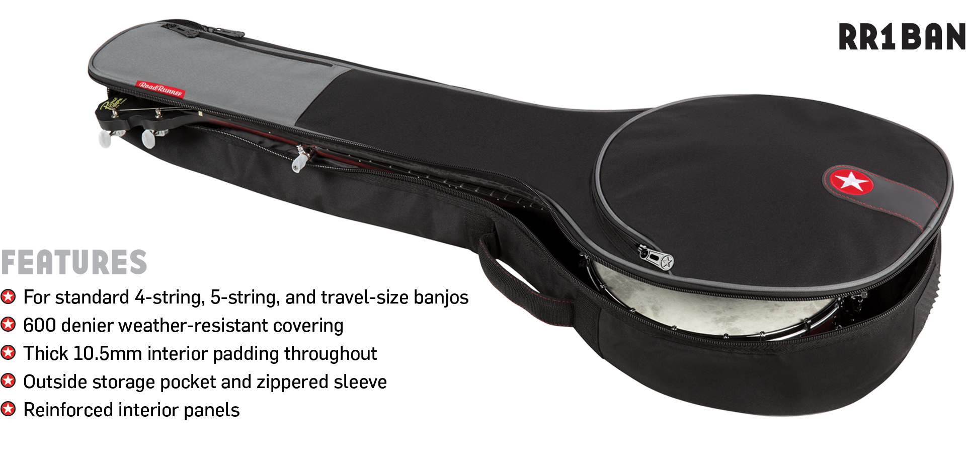 Banjo Gig Bag Road Runner Avenue RR1BAN