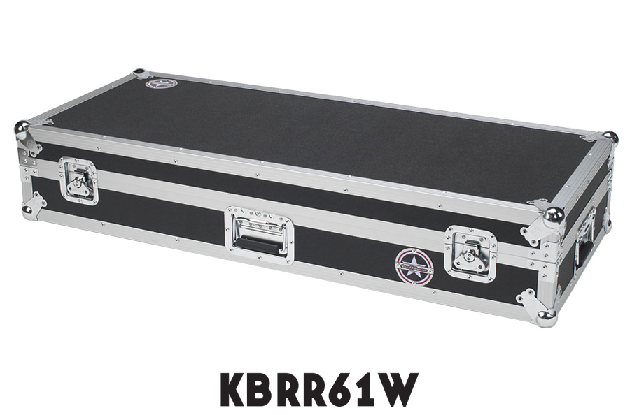 Keyboard Flight Case with Casters KBRR61W