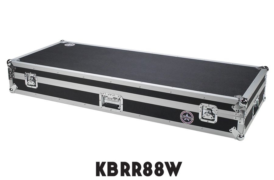 Keyboard Flight Case with Casters KBRR88W