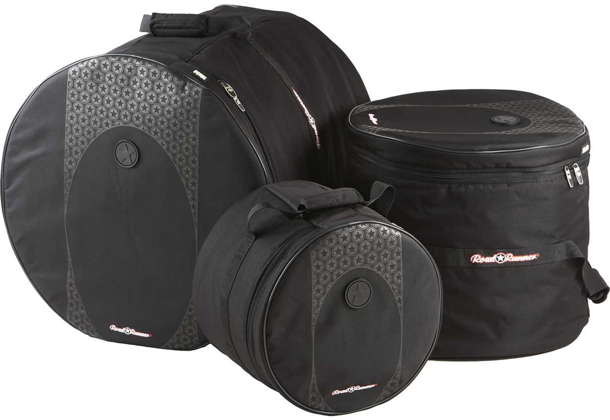 Touring 3-Piece Drum Gig Bag Set Road Runner RDBS1