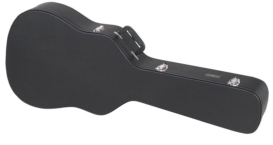 Dreadnought Acoustic Guitar Wooden Case Road Runner RRDWA