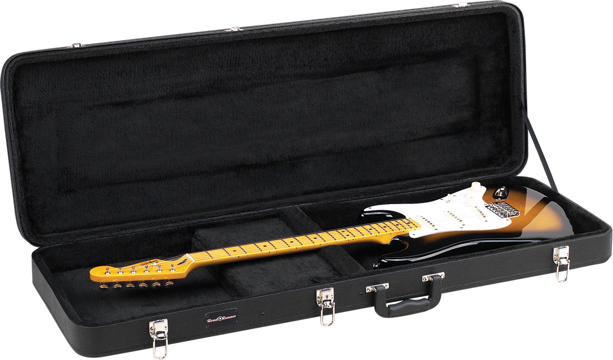 Deluxe Wood Electric Guitar Case Road Runner RRDWE