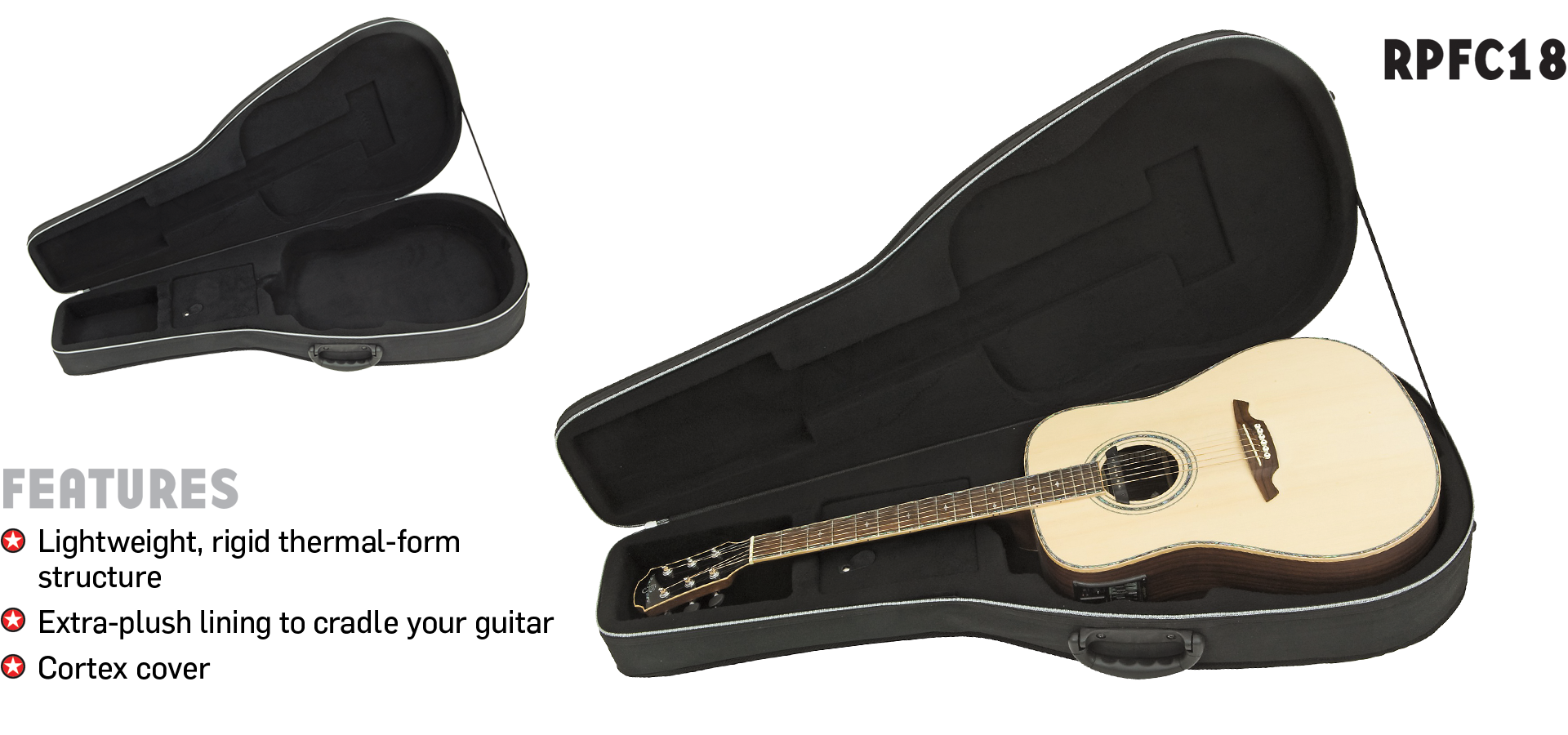 RPFC18 Polyfoam Classical Guitar Case Road Runner