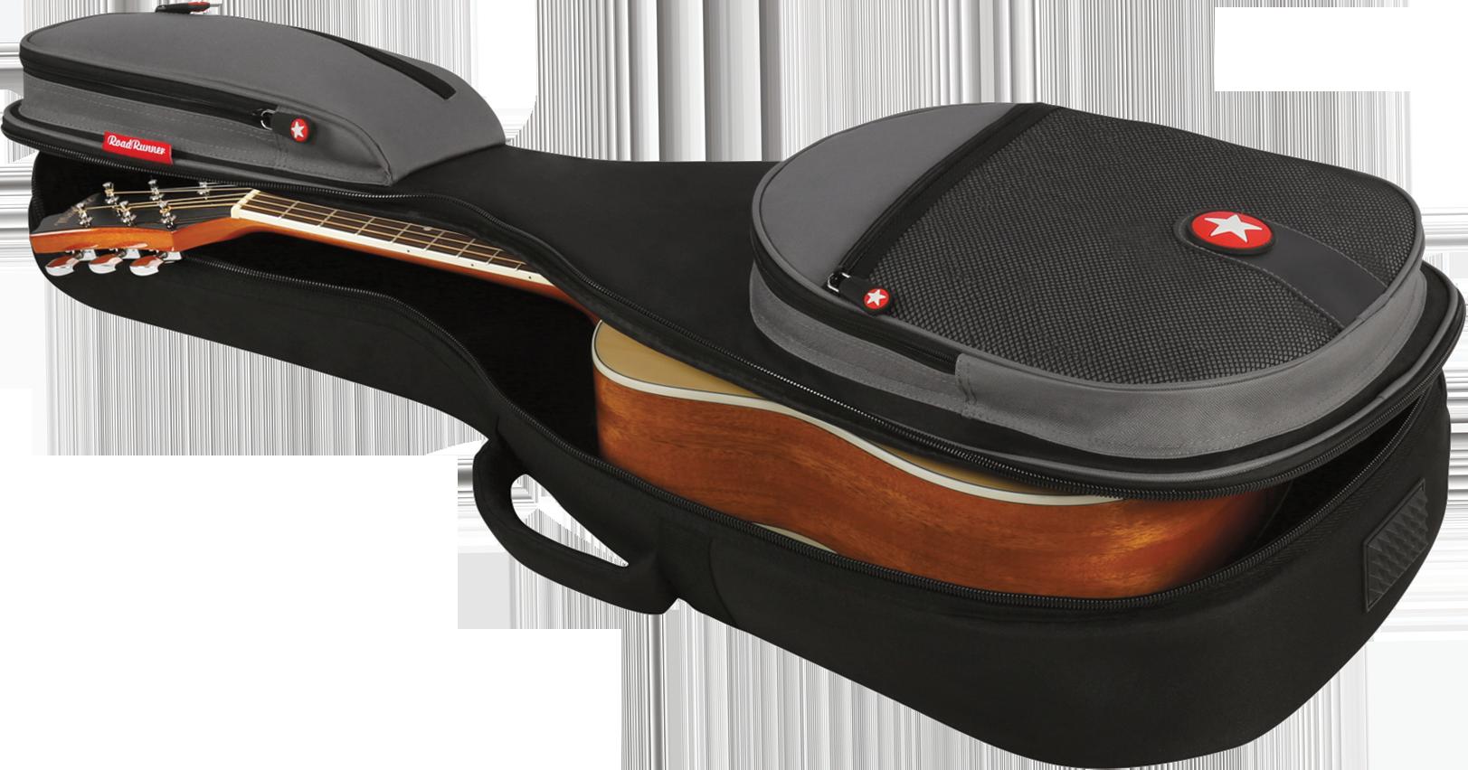 Orchestra-Size Acoustic Guitar Gig Bag Road Runner Boulevard RR2OM