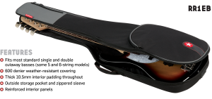 Electric Bass Gig Bag Features Road Runner RR1EB