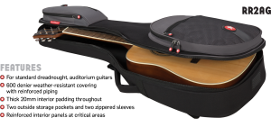 Acoustic Guitar Bag Features Road Runner RR2AG