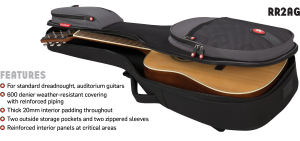 Acoustic Guitar Bag Features Road Runner RR2AG