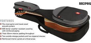 Parlor Acoustic Guitar Bag Features Road Runner RR2PAG