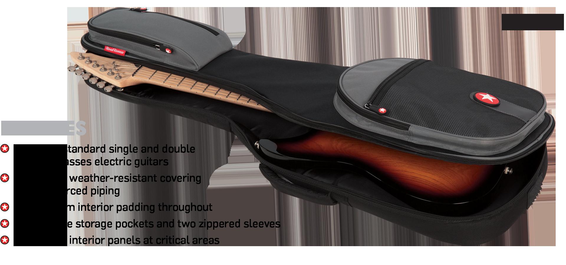 Electric Guitar Padded Gig Bag Road Runner Boulevard RR2EG