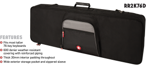 Keyboard Bag Features Road Runner RR2K76D