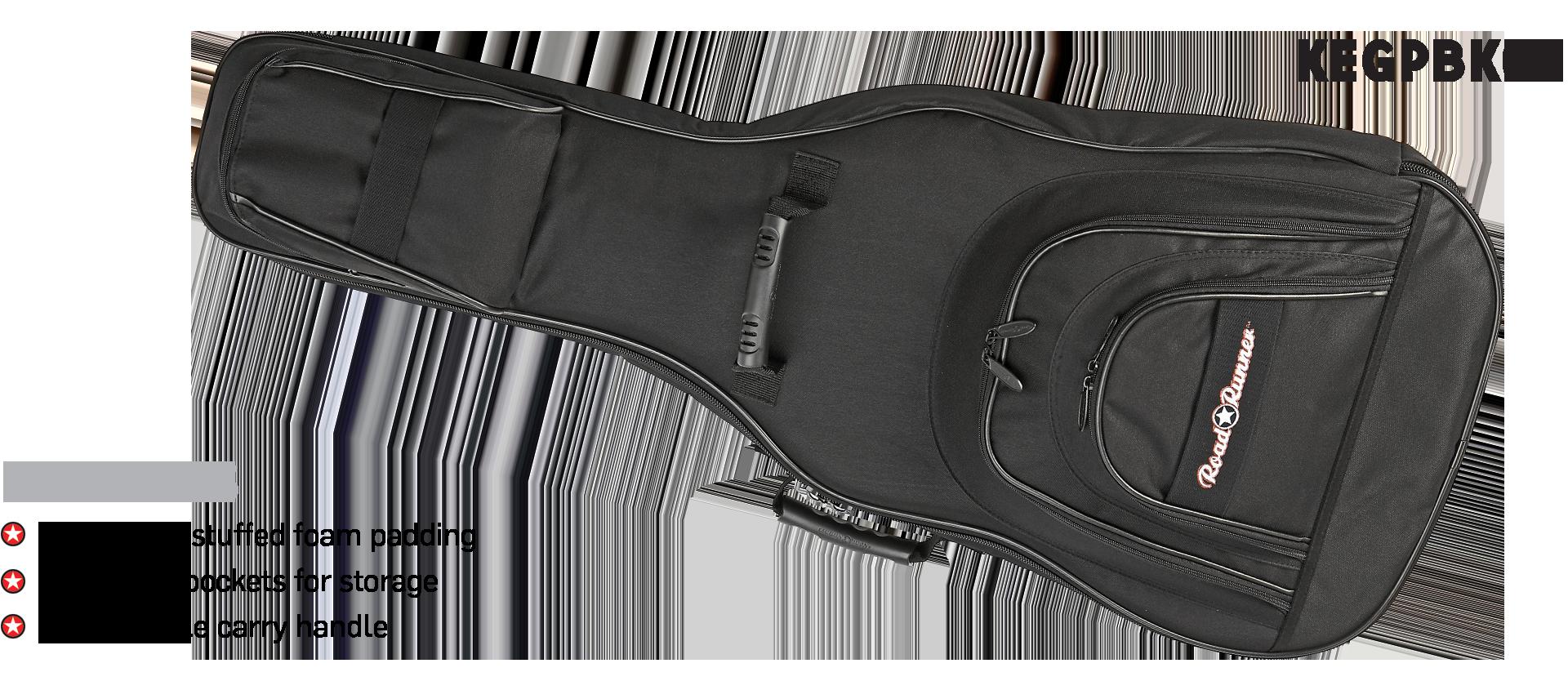 Roadster Electric Guitar Gig Bag Road Runner KEGPBK07