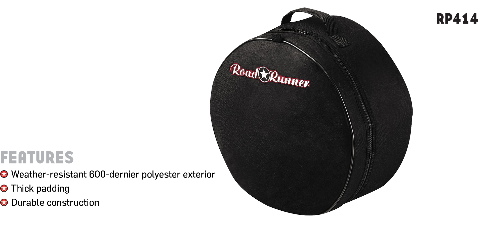 Padded Snare Drum Gig Bag Road Runner RP414