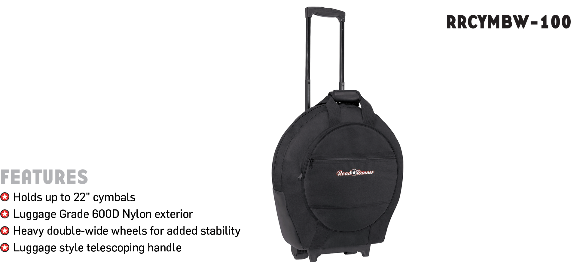Cymbal Bag with Wheels Road Runner RRCYMBW-100