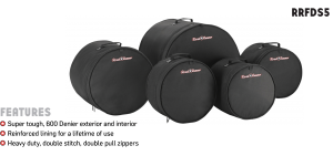 5-Piece Fusion Drum Bag Set Road Runner RRFDS5