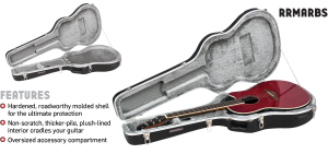 ABS Molded Ovation Style Guitar Case Road Runner RRMARBS