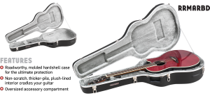 ABS Molded Ovation Style Guitar Case Road Runner RRMARDB