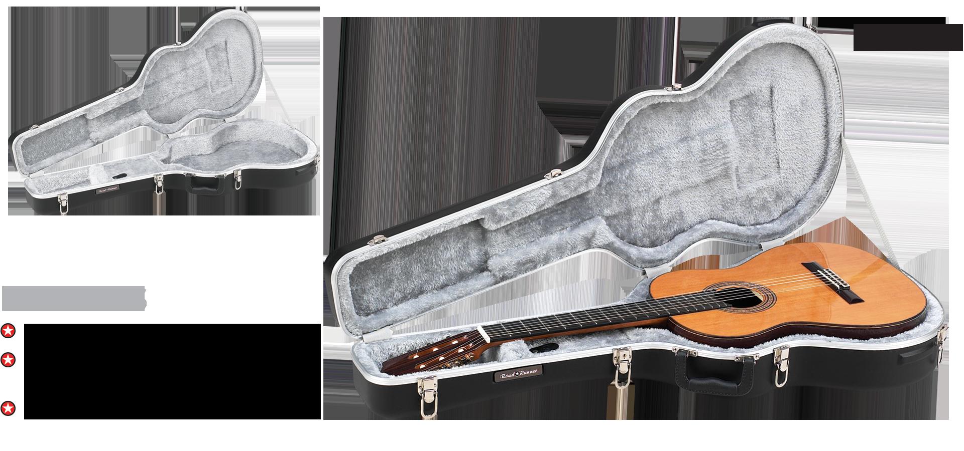 ABS Molded Hardshell Classical Guitar Case Road Runner RRMCG