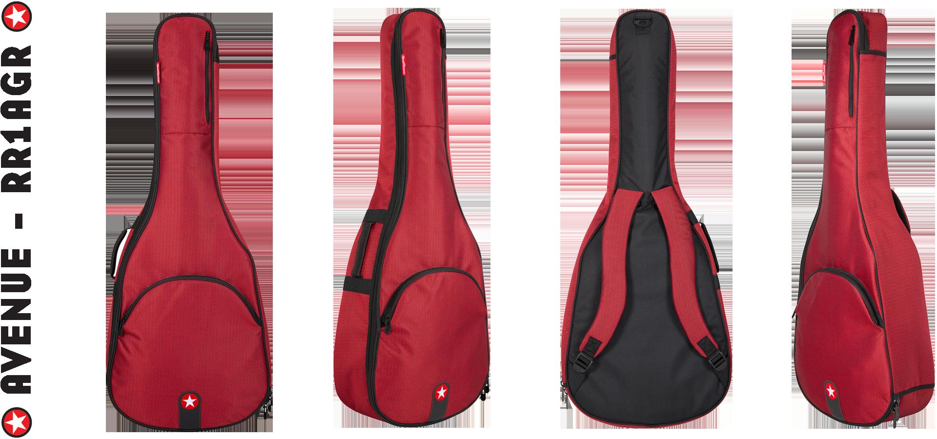 Road Runner RR1AGR Red Tweed Acoustic Guitar Gig Bag