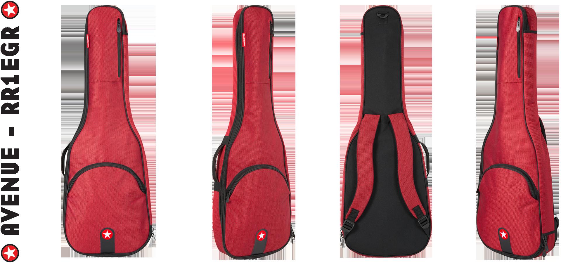 Road Runner RR1EGR Red Tweed Electric Guitar Gig Bag