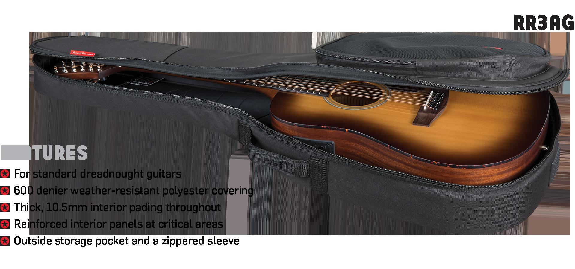 Acoustic Guitar Gig Bag Road Runner Avenue RR3AG
