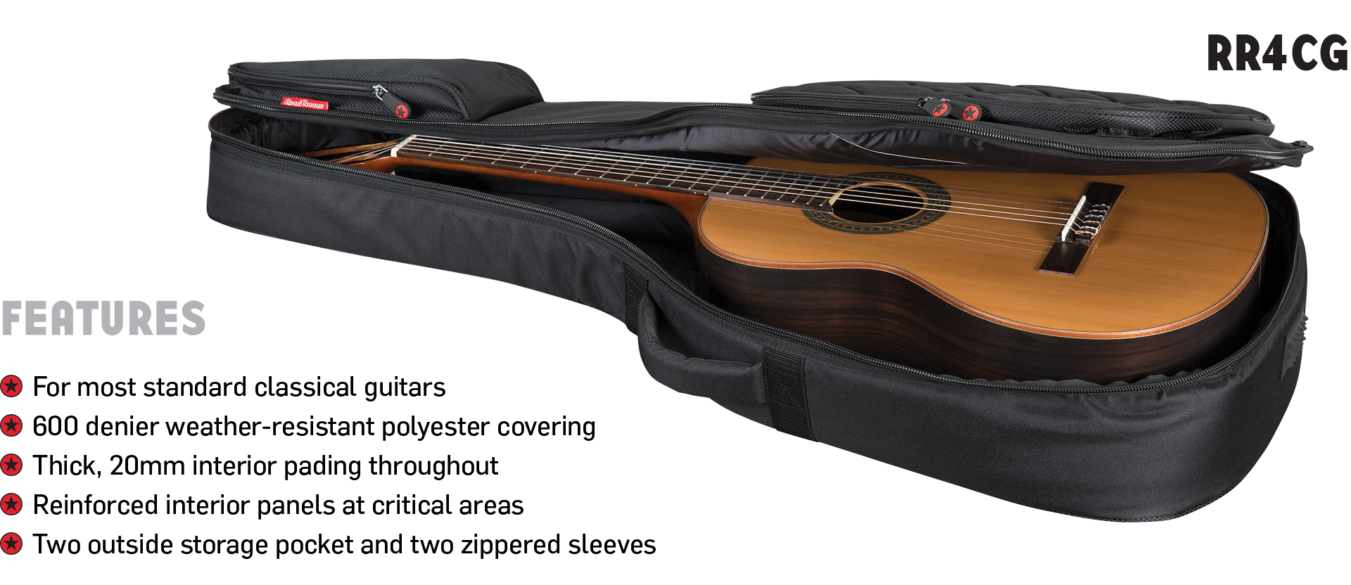 Classical Guitar Gig Bag Road Runner RR4CG
