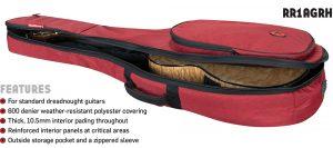 Road Runner RR1AGRH Acoustic Guitar Bag Red Honeycomb
