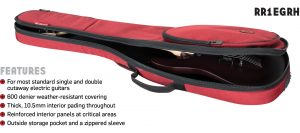 Road Runner RR1EGRH Electric Guitar Bag Red Honeycomb