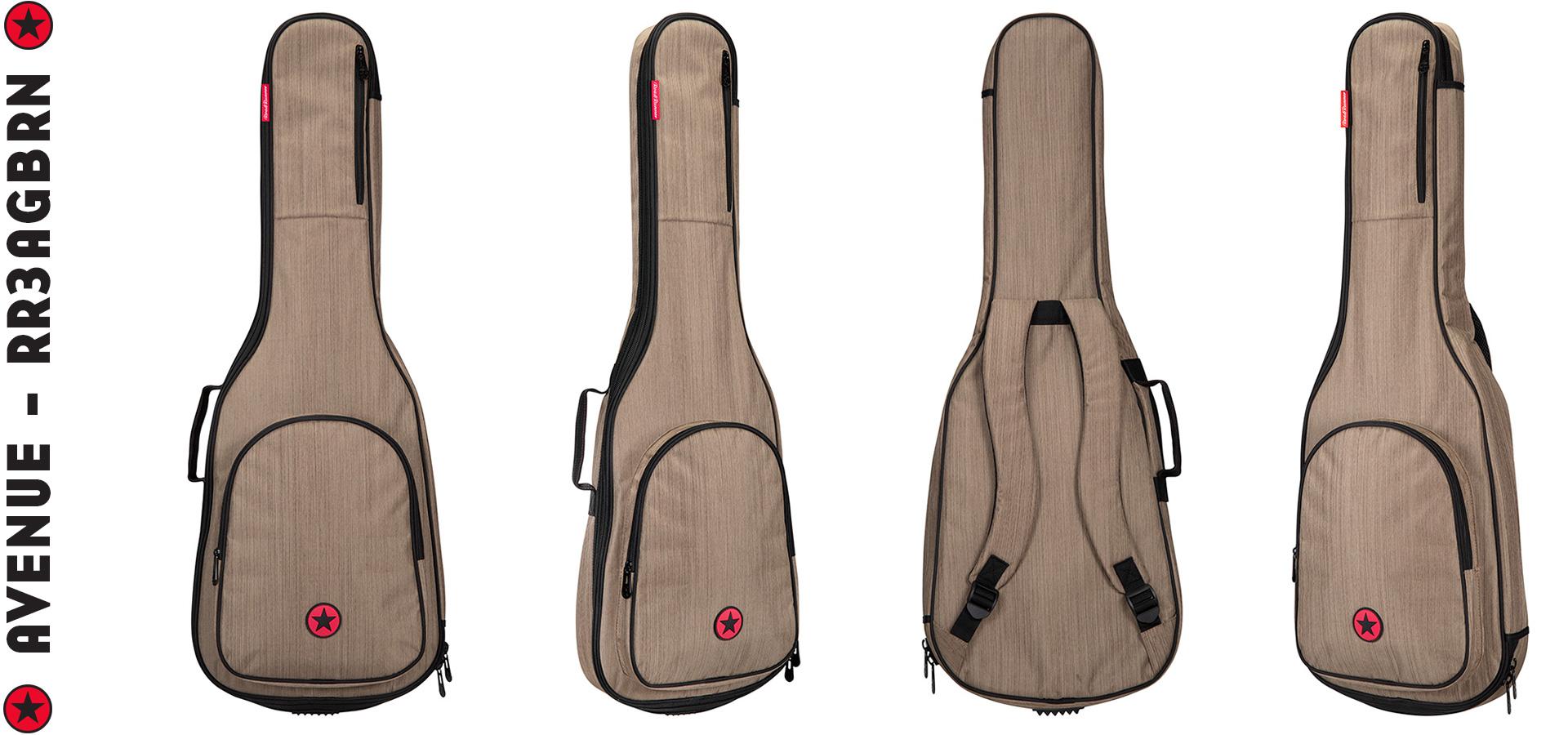 Road Runner RR3AGBRN Acoustic Guitar Bag