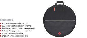 """Road Runner Cymbal Bag 22"""" Black"""